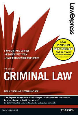 Law Express: Criminal Law (Revision Guide) by Emily Finch, Stefan Fafinski...
