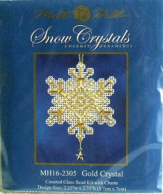 Mill Hill Cross Stitch Bead Kit 'Gold Crystal' Snowflake Christmas 16-2305