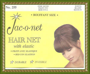 Jac-O-Net Bouffant Invisible fine Hair retro very thin Net white