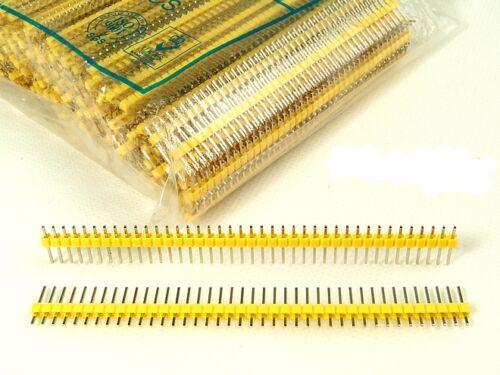 10pcs Yellow 40Pin 2.54mm Single Row Male Pin Header Strip for Arduino