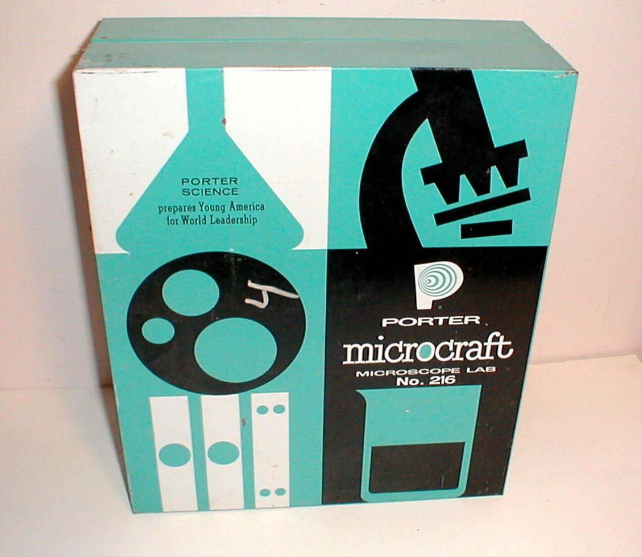 VINTAGE PORTER MICROCRAFT MICROSCOPE LAB NO.216