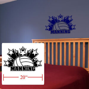 About Volleyball Boys Girls Room Decor Personalized Stars Volleyball