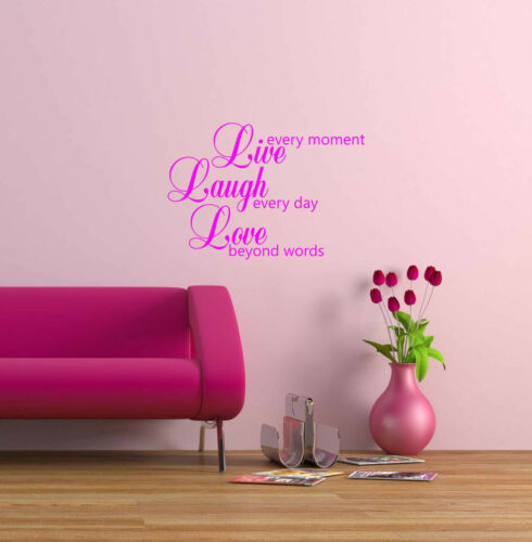 Live reír Love Quotes Autoadhesiva De Vinilo El Arte De Pared la Decoración del Hogar lll2