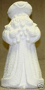 Ceramic Bisque Renaissance Santa Bears Large Gare 3371 U-Paint Ready To Paint
