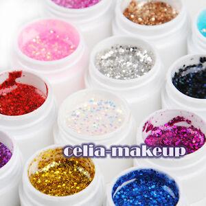 New-12-PCS-Big-Glitter-Mix-Color-UV-Gel-Acrylic-Builder-Set-for-Nail-Art-Tips