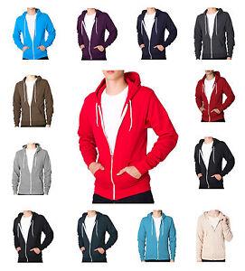 Soul-Star-Slim-Full-Zip-Hooded-Top-Fleece-Sweatshirt-Hoodie-All-Colours-amp-Sizes