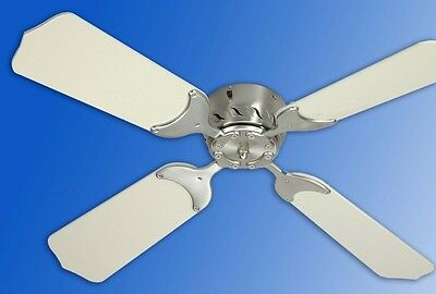 """12V Electric 25"""" Remote Ceiling Fan with Ceiling Fan Bezel w/white LED lights"""
