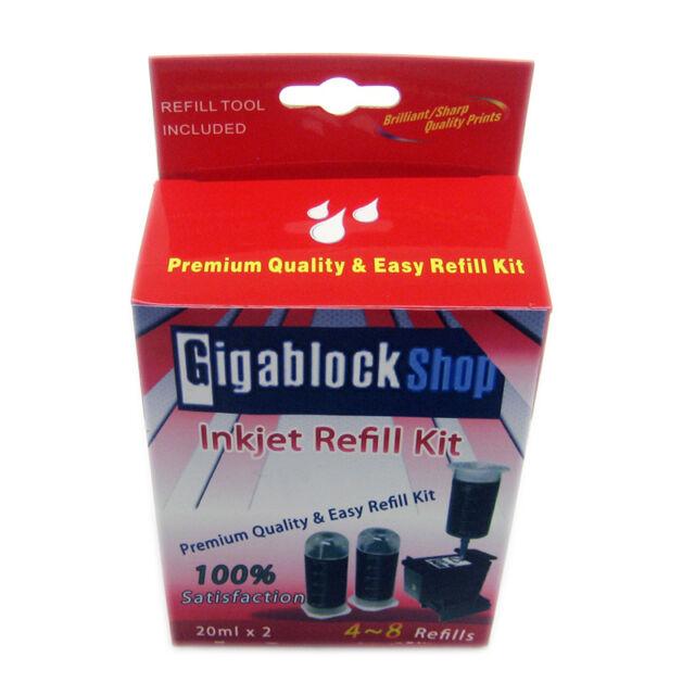 Pigment Black ink Refill Kit for Canon PIXMA iP3680 iP4680 MP560 MP620 MX870