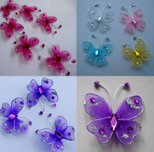 Image Is Loading 36pc 3 5cm Nylon Stocking Butterfly Wedding Decorations