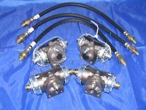 4 Wheel Cylinders & Brake Hoses 49 50 Chevrolet 1/2 Ton Truck 1949 1950