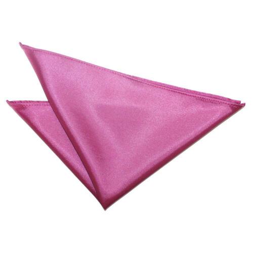 Satin Solid Plain Suit Pocket Square Wedding Party Mens Hanky Handkerchief