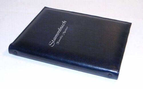 Stammbuch schwarz*Kunstleder*mit Namen*Hochzeit*Datum
