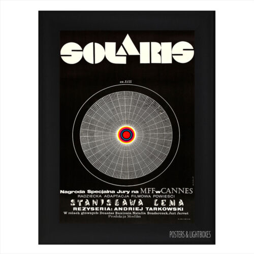 SOLARIS POLISH CLASSIC Framed Movie Film Poster A4 Black Frame