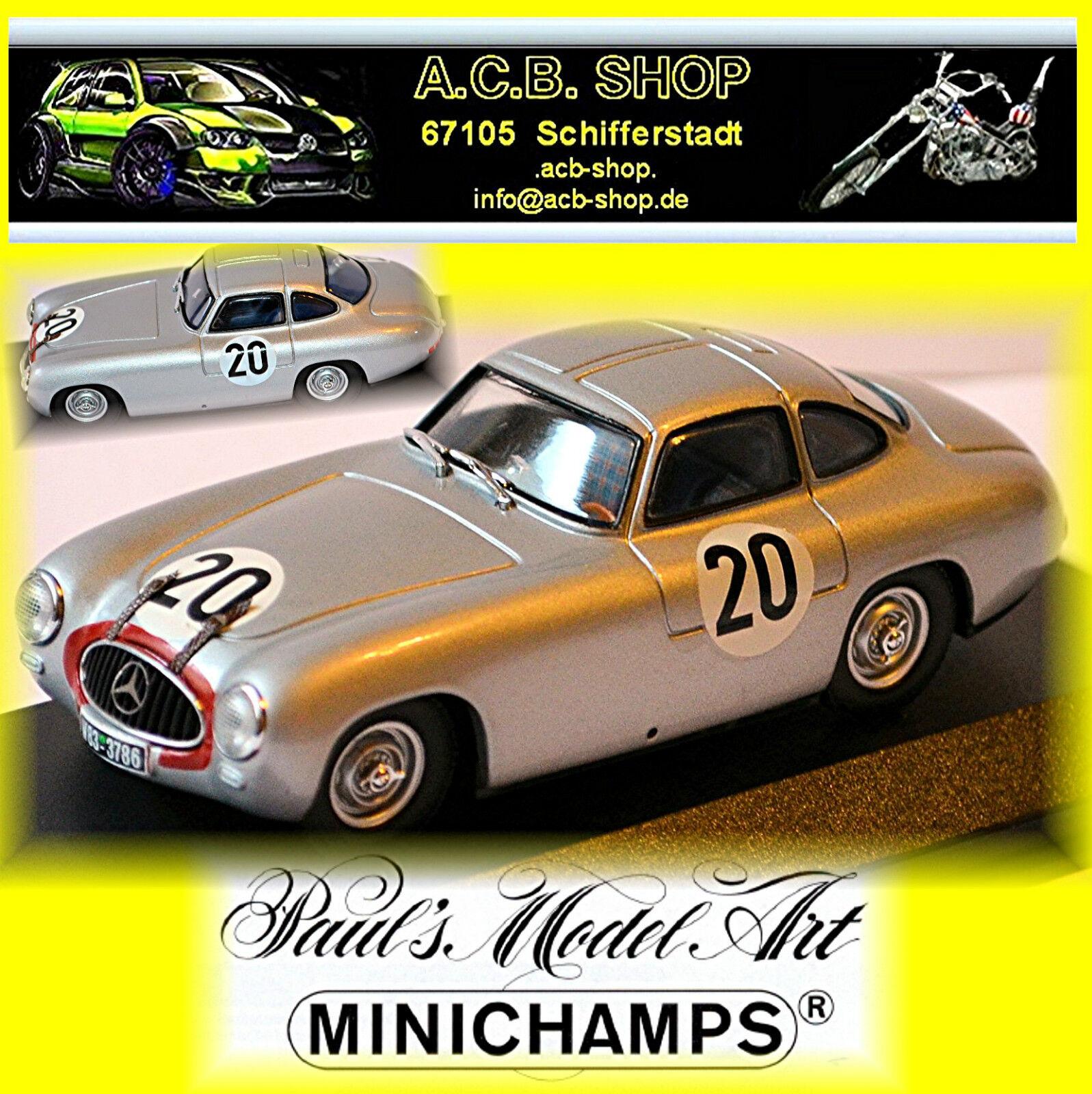 Mercedes 300 Sl le Mans 1952 Helfrich Niedermayr  20 1:43 Minichamps