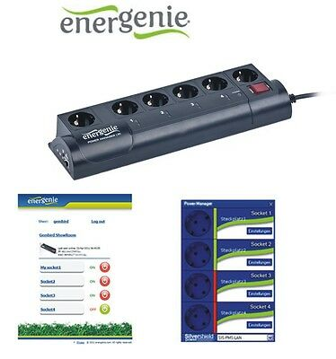 Gembird EG-PMS2 Programmierbare USB 6fach Steckdoseleiste mit Ü-Schutz