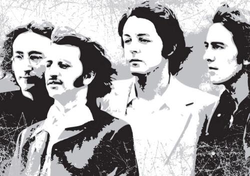 Beatles-Music Icons-Impreso En Lona-Alta Calidad-Elegante Enmarcado Arte De Pared
