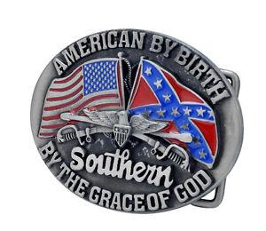 American-Southern-Grace-of-God-Western-Belt-Buckle-Rebel-Flag