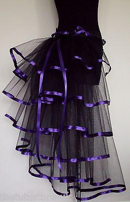 Noir Mauve Moulin Rouge Burlesque Ceinture Buste S.M L Sexy Steampunk Goth