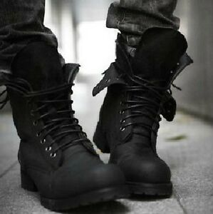 Fashion-New-Mens-bLack-Boots-Suede-Shoes-Casual-boot-size-US6-5-10-Free-ship