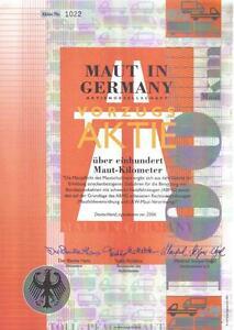 Original-Germany-Bond-Share-Aktie-Toll-Maut-DECO-Rare-uncancelled