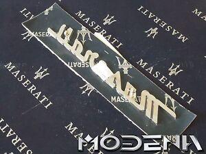 Maserati-Emblem-Schriftzug-Scritta-Metall-Chrom-Badge-Mark-QP-Evoluzione-Evo