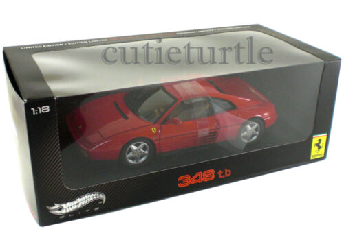 Hot Wheels Elite Ferrari 348 TB 1:18 Diecast Red V7436
