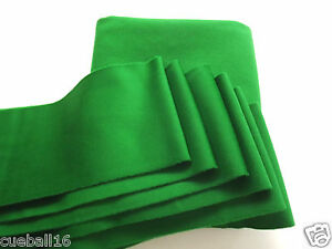 7ft-GREEN-STRACHEN-POOL-TABLES-CLOTH-7x4-TOP-QUALITY-SLATE-amp-6-CUSHION-STRIPS