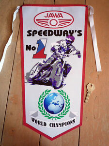 JAWA-SPEEDWAY-RACER-No1-WORL-CHAMPIONS-PENNANT-ESO-etc