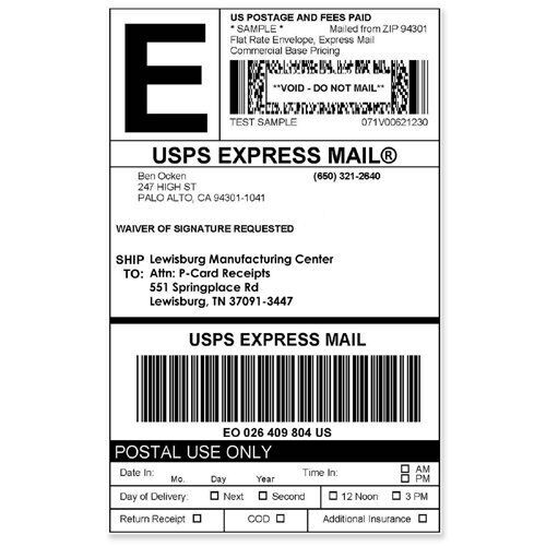 Dymo 1744907 LW Extra Large Shipping Thermal Labels
