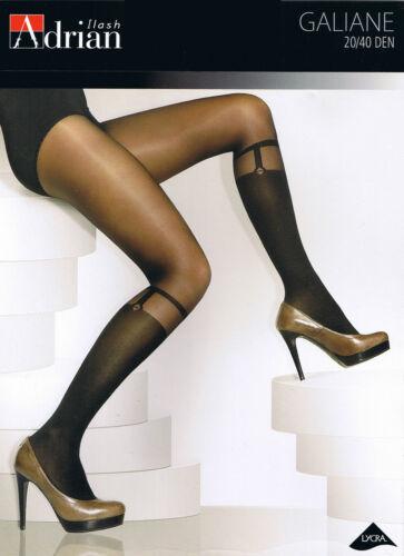 "Fashionable Patterned Tights Adrian /""GALIANE/"" 40//20Denier Imitating knee-highs"