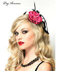 Leg Avenue The Sexy Blossom Fascinator Hair clip is a hot pink blossom with a feather accent. For Women
