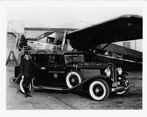 1931-Auburn-Limousine-w-Plane-Factory-Photograph-Ref-23141-antique-car