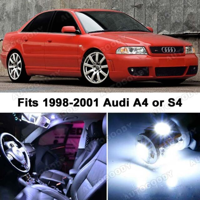 17 x Premium Xenon White LED Lights Interior Package Upgrade for Audi A4