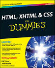HTML, XHTML and CSS For Dummies by Jeff Noble, Ed Tittel (Paperback, 2010)
