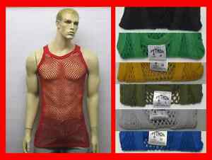 Plain-Rasta-100-Cotton-Fitted-String-Mesh-Muscle-Fishnet-Vest-Tank-Top