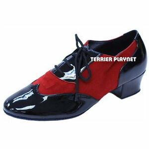 TPS-Black-amp-Red-Latin-Ballroom-Salsa-Custom-made-Dance-Shoes-D823