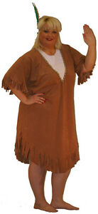 INDIAN-SQUAW-FANCY-DRESS-COSTUME-COWBOYS-AND-INDIANS-WESTERN-PLUS-SIZE-18-40