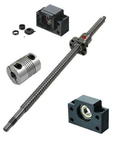 1x Rolled Ball screw 1605-L750mm-C7+BK/BF12 +2pcs 6.35*10mm couplers for CNC YB