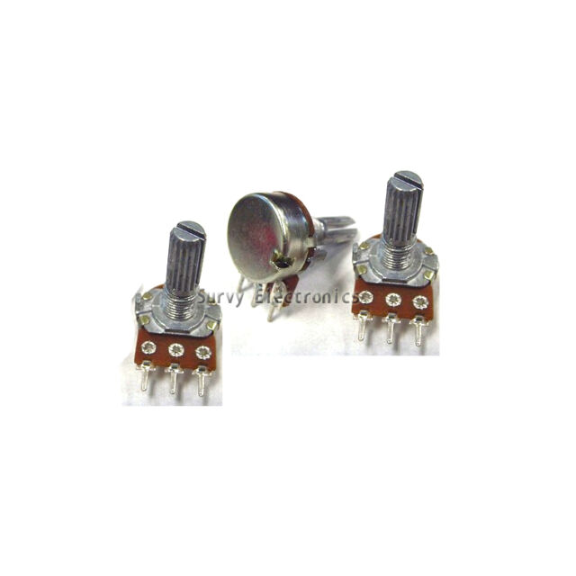 2 pcs 10K ohm Linear Taper Rotary Potentiometer Panel pot B10K New