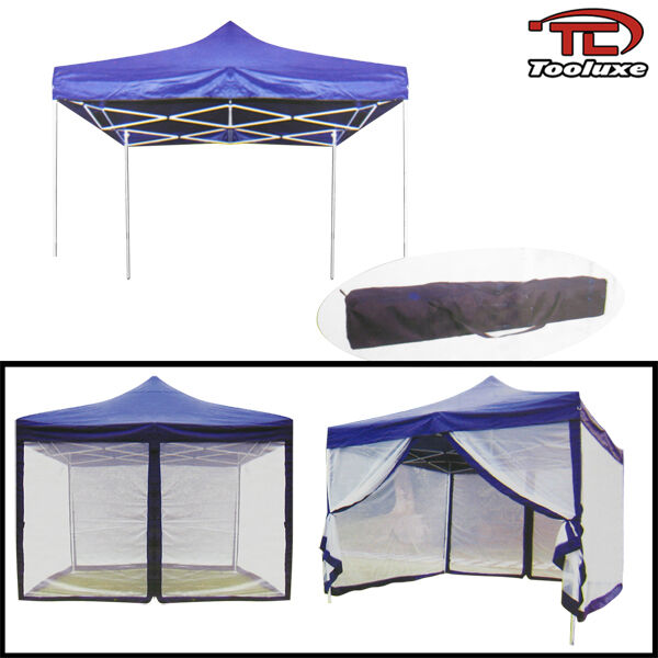 10' x 10' Canopy W/ Mosquito Net Easy Foldable Canopies & Tents Camping Tailgate