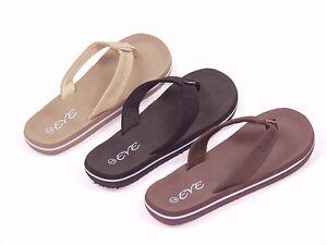 Women-039-s-EVE-Flip-Flops-Thongs-Sport-Sandals-Beach-Casual-Wear-Black-Tan-Brown