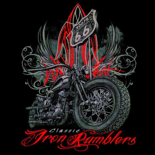 *4296 bl Biker Harley-Panhead-Motiv Bike Old School Motorcycle Bobber T-Shirt