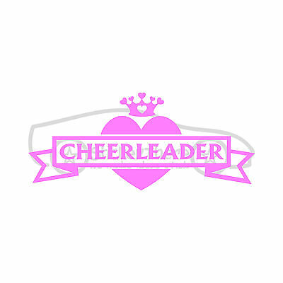 CHEERLEADER Sticker Cute Vinyl Decal Heart Cheer Girl Chick School Squad Compete