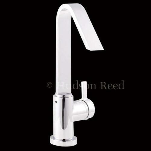 Hudson Reed Clio Side Action Single Lever Basin Mixer & Swivel Spout MG380