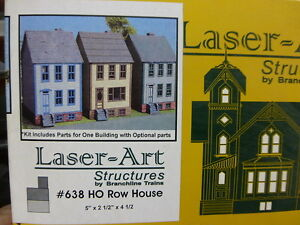 Branchline-Laser-Art-Structures-HO-638-Row-House-5-x-2-1-2-x-4-1-2-034-Kit-Form