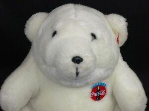 coca cola commercial winter polar bear vintage 1993 plush. Black Bedroom Furniture Sets. Home Design Ideas