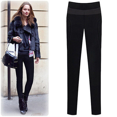 Autumn Fashion Women Pants plus velvet stretch Slim Pants 0164