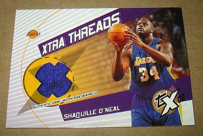"2002-03 TOPPS XPECTATIONS NBA ""SHAQ"" GAME WORN WARM-UP CARD   FREE SHIPPING"