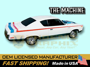 1970 amc american motors rebel machine decals stripes. Black Bedroom Furniture Sets. Home Design Ideas