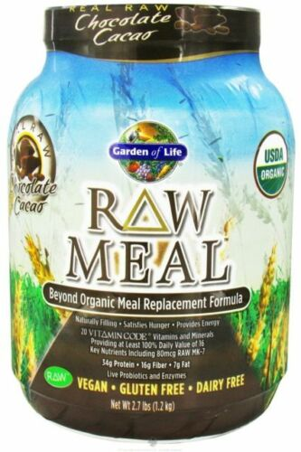 Garden of Life CHOCOLATE Raw Meal Replacement  2.7 lbs